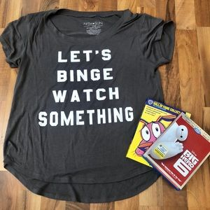 Let's Binge Watch Something Graphic Tee - Size S
